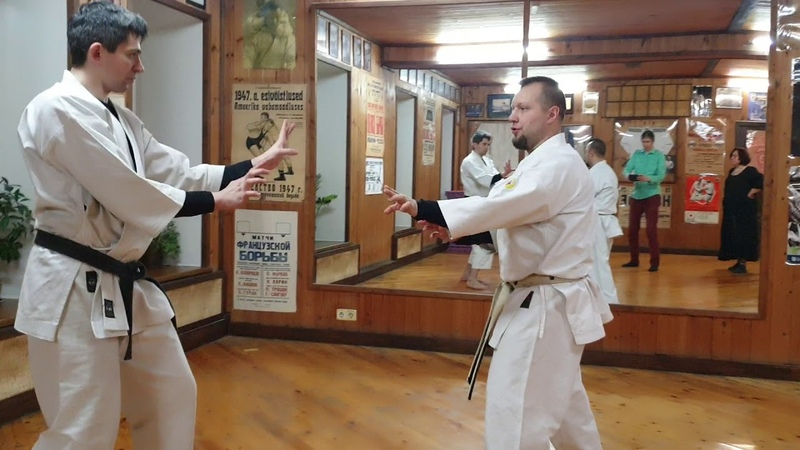 Dan kumite Uechi ryu karate Okikukai Russia Sensei Rubin Evgeny