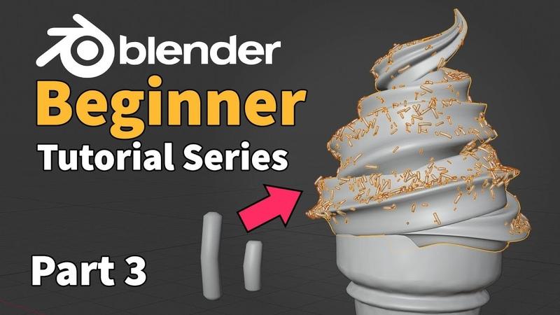Blender 2.8 Beginner Tutorial - Ice Cream - Part 3 : Particle Instancing