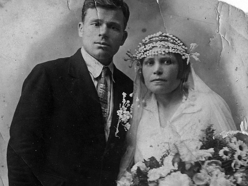 Григорий Семёнович и Мария Семёновна Лапокныш, 1934 год