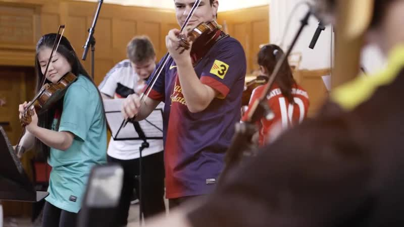 LGT Young Soloists recorded UEFA Champions League Anthem