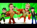 ПАПА тайм • Видео игры - Бен 10 против Кевина Битва героев Омниверс! – Онлайн видео для мальчиков.