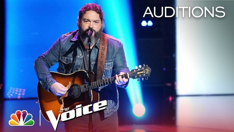 Dave Fenley Slays Cover of Travis Tritt's Help Me Hold On The Voice 2018 Blind Auditions