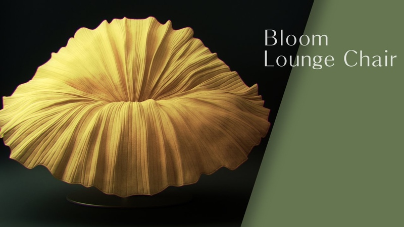 3ds max modeling tutorial 'Bloom Lounge Chair' 라운지체어 모델링