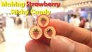 30 How to Make STRAWBERRY ROCK Sticky Candy - Sticky Candy Making Process