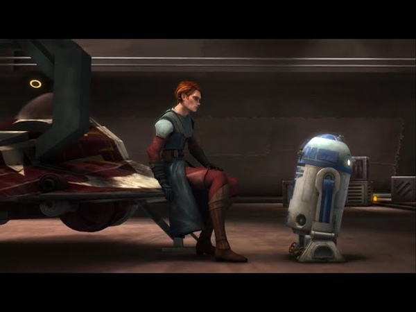 Как R2 D2 отреагировал когда Энакин перешел на темную сторону и напал на Падме? Ле