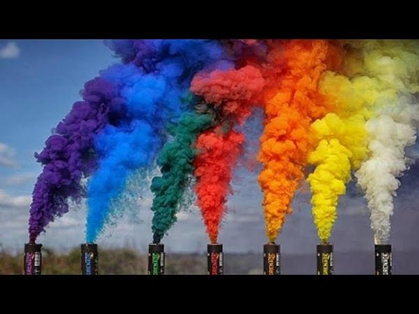 Дымовые шашки и Цветной дым тест обзор Военные и дымовухи для свадьбы фотосессии страйкбола