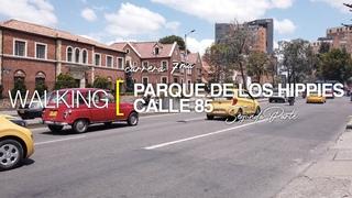 [4K] Walking Bogotá, Colombia. Carrera 7. Parque de los Hippies - Calle 85