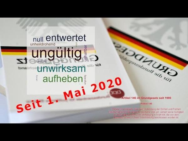 BRiD seit 1 Mai 2020 nicht mehr existent│ALLE Amtshandlungen illegal│GEZ illegal│US Army Europe