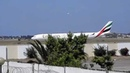 Emirates Airlines A340-500 Landing and Taxiing in Tunis Carthage Airport