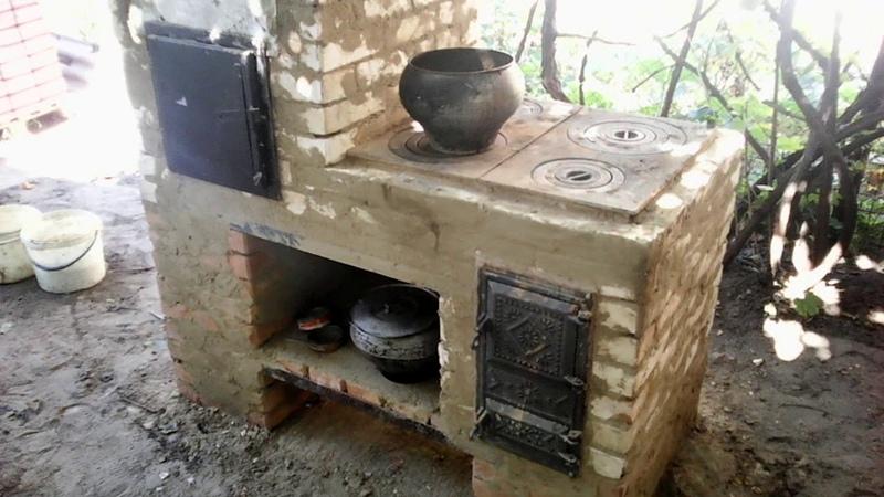 (198)Садовая печь с сушильной камерой,духовкой и коптилкой.