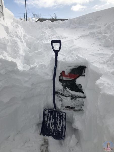 Рекордный снегопад в Канаде: высота снежного покрова достигает 3 метров