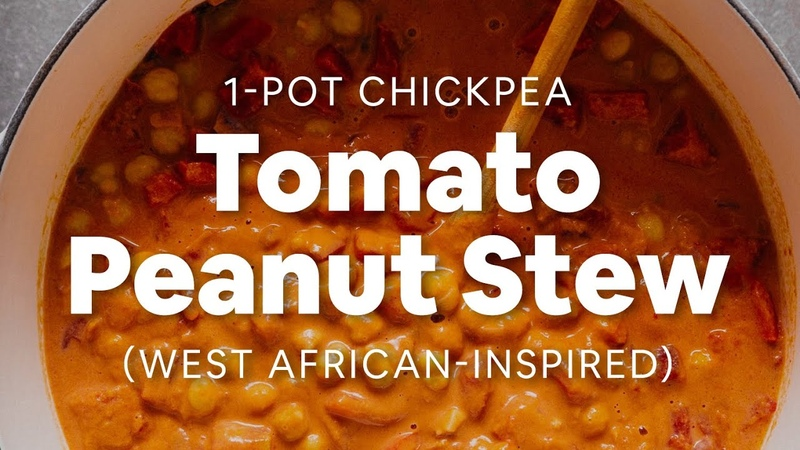 1-Pot Chickpea Tomato Peanut Stew (West African-Inspired) | Minimalist Baker Recipes