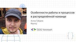 Антон Губарев - Особенности работы и процессов в распределённой команде
