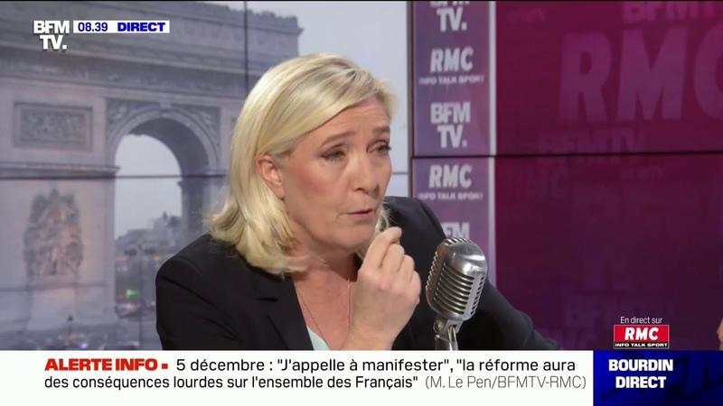 Marine Le Pen compare la réforme des retraites française à celle de la Suède et s'en inquiète