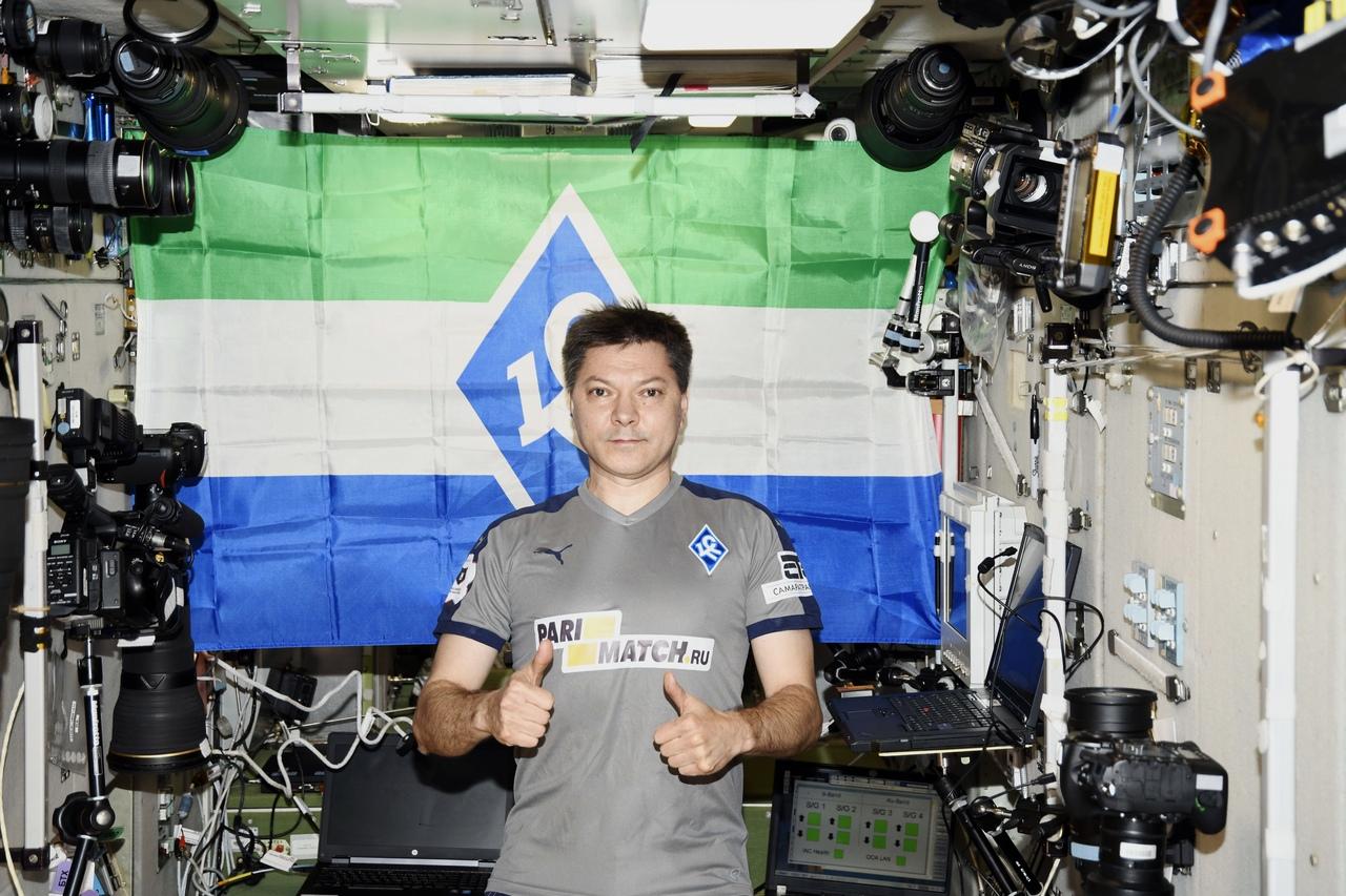 Олег Кононенко, космонавт. Болельщик Крыльев Советов