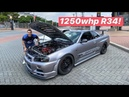 1200WHP NISSAN SKYLINE R34 GTR FIRST DRIVE! *Sequential Manual*