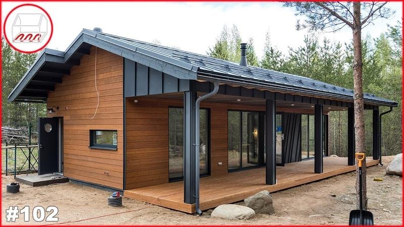 Уютный дом 5*14 с одной спальней | Каркасный дом для двоих 58 м2