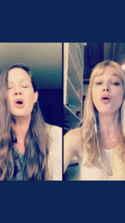 """The Pierces on Instagram """"We've been singing this song together since we were little girls. Sending it to you now with peace, love, and strength f..."""