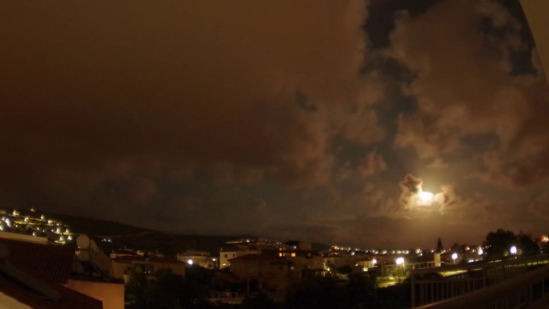 Full Moon Rising Time Lapse Paphos Cyprus