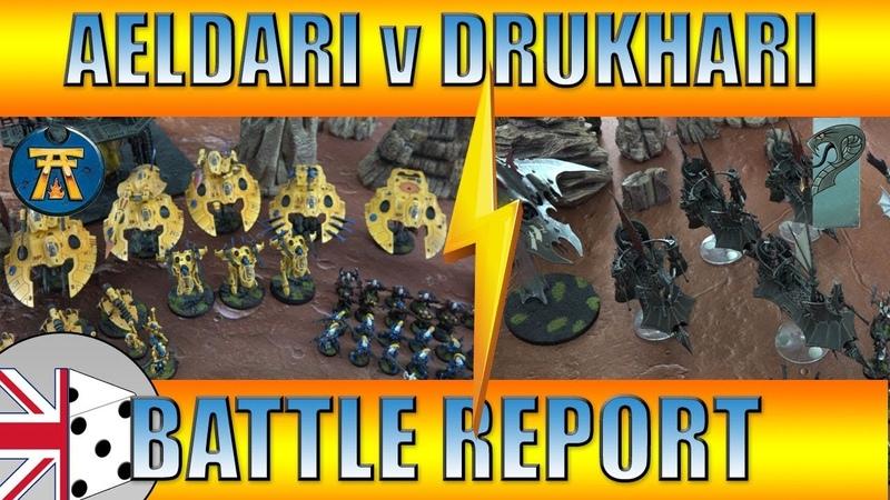 Warhammer 40,000 Battle Report: Aeldari Craftworld Iyanden v Drukhari