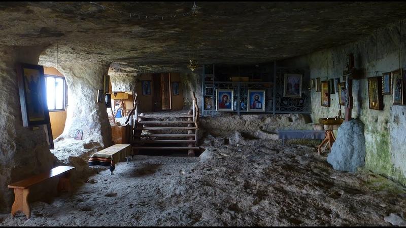 Крым Пещерный монастырь Саввы Освященного Челтер Мармара фрагменты поездки Crimea Russia