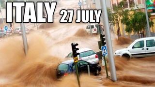 Apocalypse in ITALY! CRaZY flood destroy Cernobbio! The city is drowned!