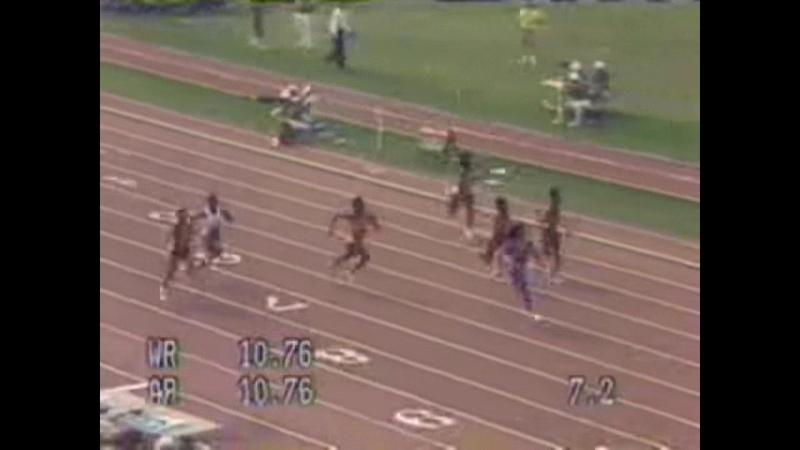Флоренс Гриффит Джойнер Мировой рекорд в беге на 100 метров у женщин 10 49 Индианаполис 1988 HD