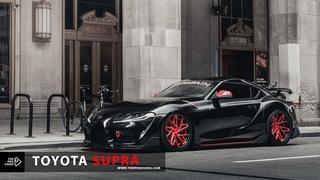 Toyota Supra 2020 / Red Rohana Wheels