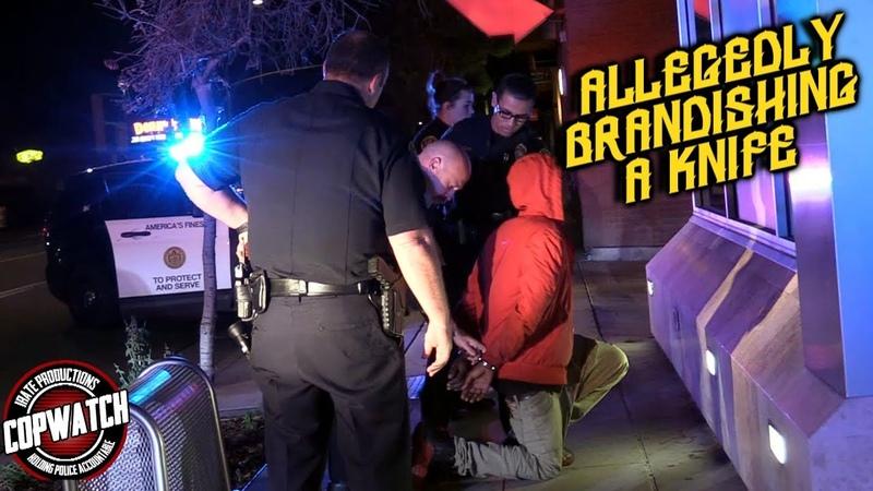 Copwatch Cops Pursue Man Allegedly Brandishing a Knife False Call