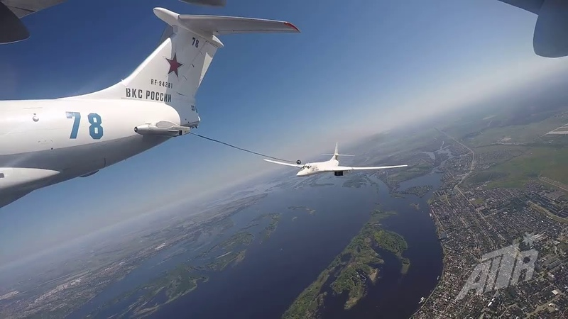 ТУ 160 и ИЛ 78 Интересное видео с интересных ракурсов для любителей авиации От взлета до посадки