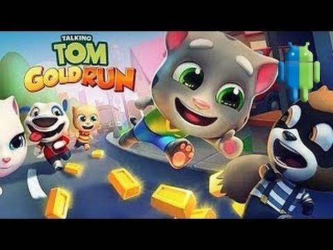 Говорящий Том Бег за золотом Talking Tom Gold Run на Android iOS GamePlay
