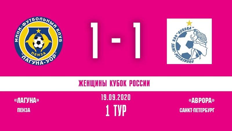 Обзор Кубок России 1 тур Женщины Лагуна УОР Аврора 1 2