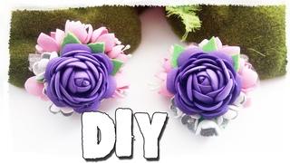DIY\MK Делаем цветочные украшения из фоамирана.  Заколки на каждый день