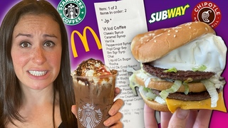 Ordering Fast Food Wrong 24 HR Challenge