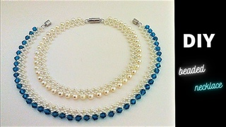 How to make a crystal necklace. How to make a pearl necklace. Jewelry making tutorial