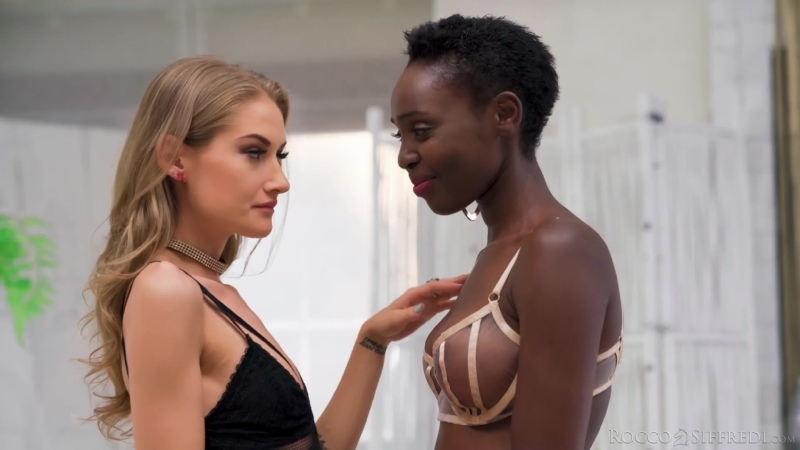 Мужик трахает негритянку и блондинку, ЖМЖ black ebony sex porn tit boob milf girl fuck group orgy game new pussy (Hot&Horny)