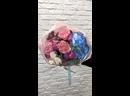 Букет цветов 💐 Состав Гортензия Пионовидная кустовая Роза Гвоздика Эвкалипт 2300₽