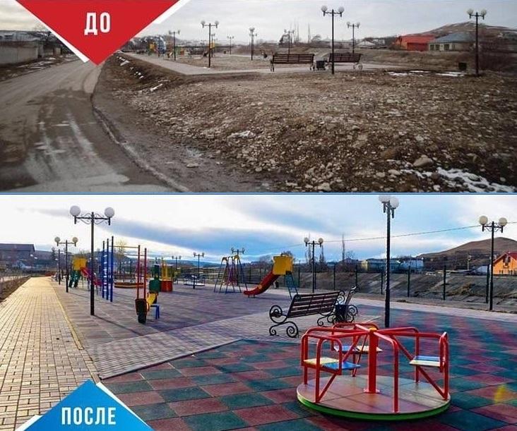 Темрезов рассказал о благоустройстве села в КЧР