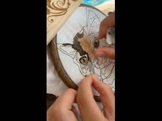 Вышивка Фени   Портрет животного