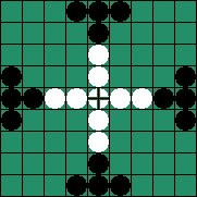 Морской Тафл (Тавлеи), Sea Battle Tafl - Начальная расстановка фигур