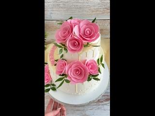 Торт с розами !