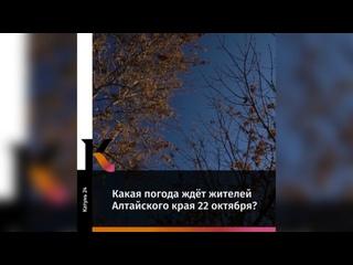 Какая погода ждёт жителей Алтайского края 22октяб...