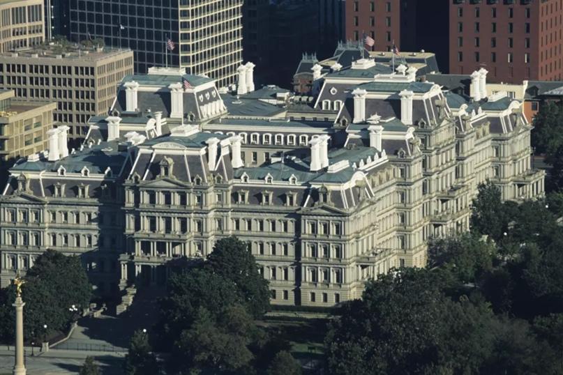 Старое административное здание, теперь называемое зданием Дуайта Д. Эйзенхауэра, в Вашингтоне.