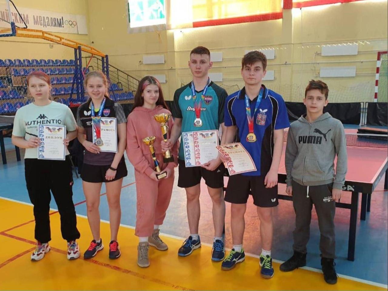 Таганрогская сборная по настольному теннису стала первой на XV Спартакиаде молодёжи Дона 2021