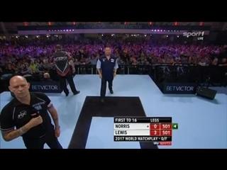 Alan Norris vs Adrian Lewis (PDC World Matchplay 2017 / Quarter Final)