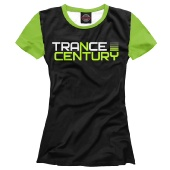 Женская футболка Trance Century Radio / Black-Green