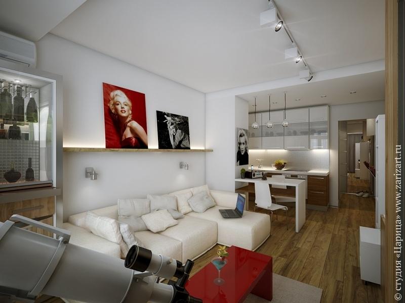 Визуализация квартиры 35 м.