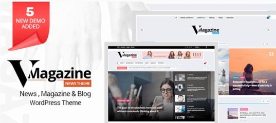 Vmagazine v1.1.2 – NewsPaper Magazine WordPress Blog Theme