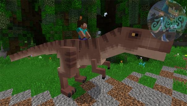 майнкрафт пе мод на динозавров
