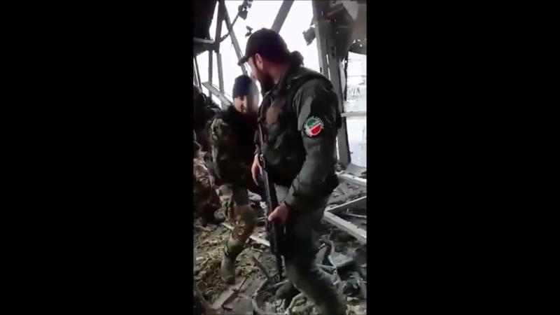 Кадировські бандити з Кавказу воюють проти Українських солдатів в Донецькому аеропорту 17 січня 2015 року